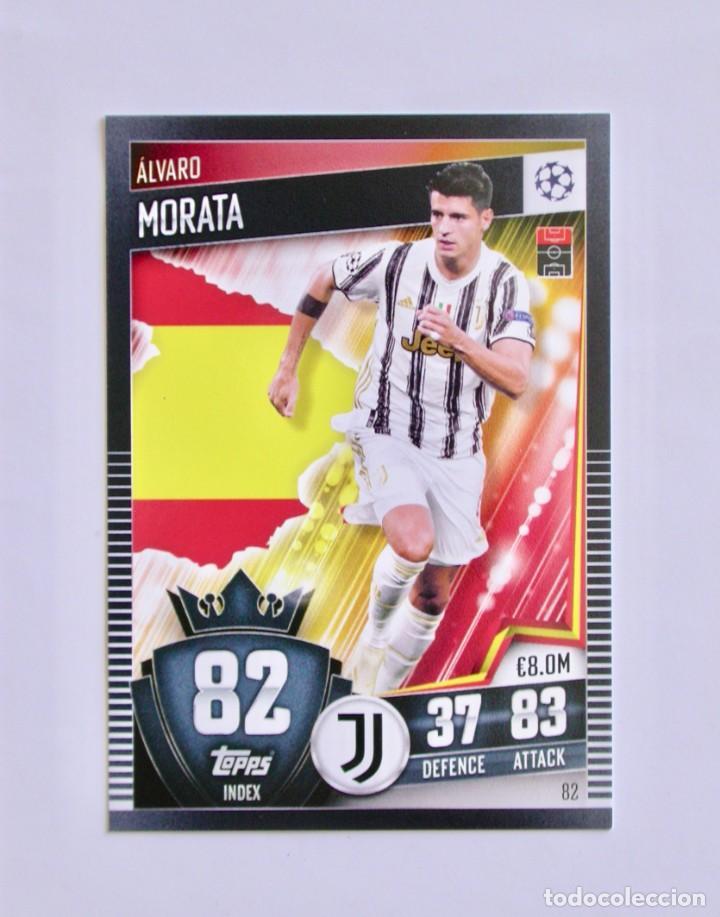 82 ÁLVARO MORATA / JUVENTUS / TOPPS MATCH ATTAX 101 / CHAMPIONS LEAGUE / 2020 2021 20 21 (Coleccionismo Deportivo - Álbumes y Cromos de Deportes - Cromos de Fútbol)