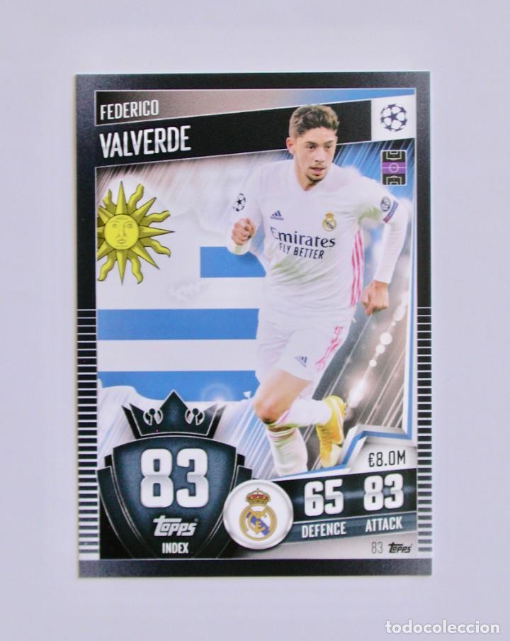 83 FEDERICO VALVERDE / REAL MADRID / TOPPS MATCH ATTAX 101 / CHAMPIONS LEAGUE / 2020 2021 20 21 (Coleccionismo Deportivo - Álbumes y Cromos de Deportes - Cromos de Fútbol)