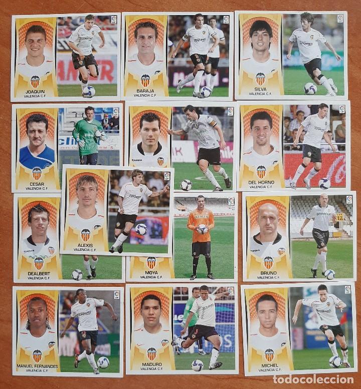 LOTE 13 CROMOS :VALENCIA - LIGA ESTE 2009 - 2010 (Coleccionismo Deportivo - Álbumes y Cromos de Deportes - Cromos de Fútbol)
