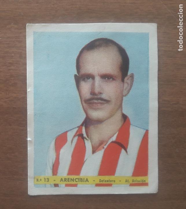 ARENCIBIA DEL ATLETICO AVIACION DE MADRID CROMOS FOTO DEPORTE - EDITORIAL BRUGUERA AÑOS 40 (Coleccionismo Deportivo - Álbumes y Cromos de Deportes - Cromos de Fútbol)