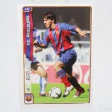 Cromos de Fútbol: MUNDICROMO 2004 2005 FC BARCELONA LIONEL MESSI 617 ROOKIE CARD MINT CONDITION. Lote 276962748