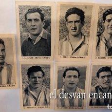 Cromos de Fútbol: ATLETICO DE MADRID. 7 CROMOS SIN PEGAR. RUIZ ROMERO 1952-53. NO SE VENDEN SUELTOS. Lote 277134643