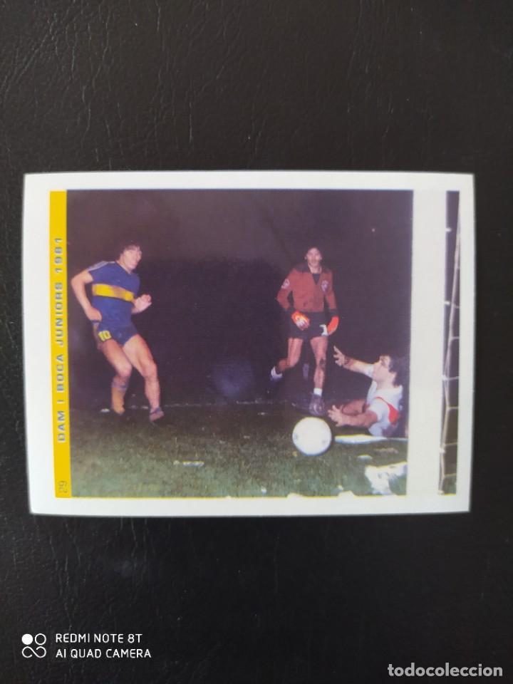 29 CROMO PEGATINA BOCA JUNIORS 1981 MARADONA MEJOR JUGADOR DEL SIGLO FIGO NUEVO DIFICIL (Coleccionismo Deportivo - Álbumes y Cromos de Deportes - Cromos de Fútbol)