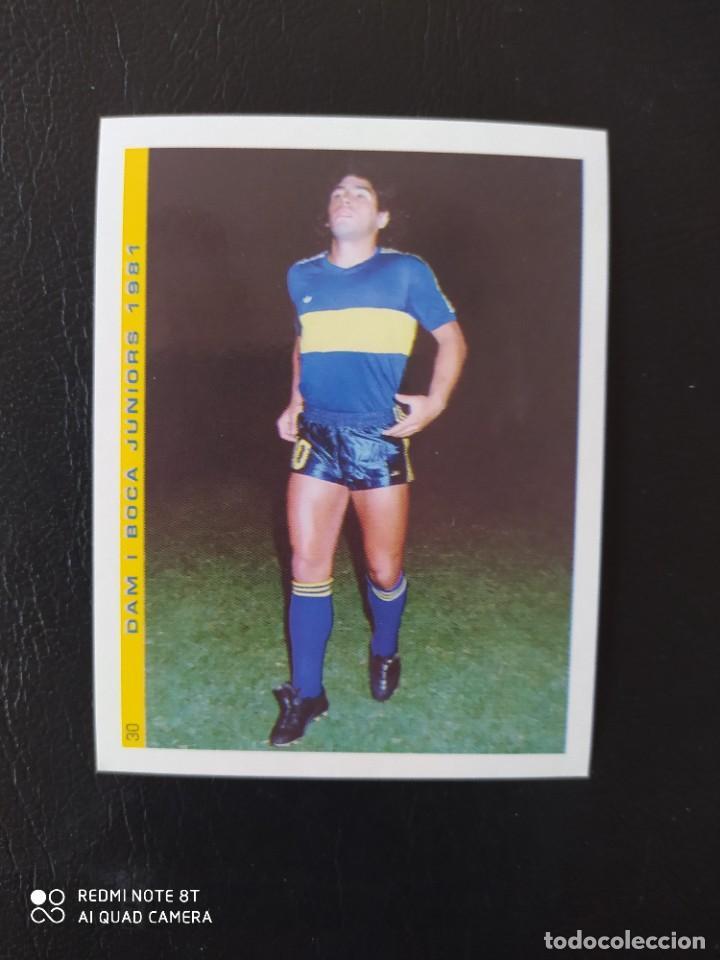 30 CROMO PEGATINA BOCA JUNIORS 1981 MARADONA MEJOR JUGADOR DEL SIGLO FIGO NUEVO DIFICIL (Coleccionismo Deportivo - Álbumes y Cromos de Deportes - Cromos de Fútbol)