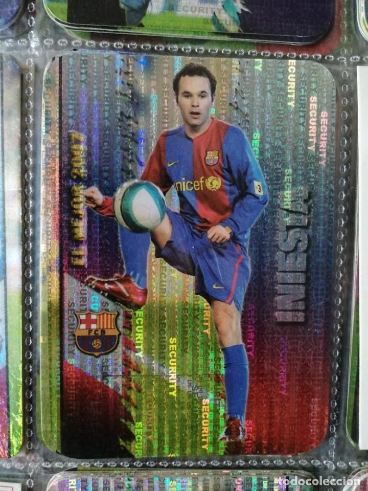Nº 54 INIESTA BARCELONA BARÇA MEJOR SECURITY VERTICAL CROMO FICHAS LIGA 2007-2008 MUNDICROMO 07-08 (Coleccionismo Deportivo - Álbumes y Cromos de Deportes - Cromos de Fútbol)