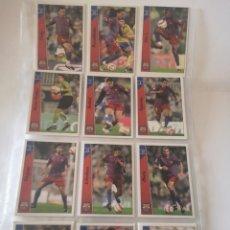 Cromos de Fútbol: LOTE 12 CROMOS BARCELONA. LAS FICHAS DE LA LIGA 2007. Lote 277272528