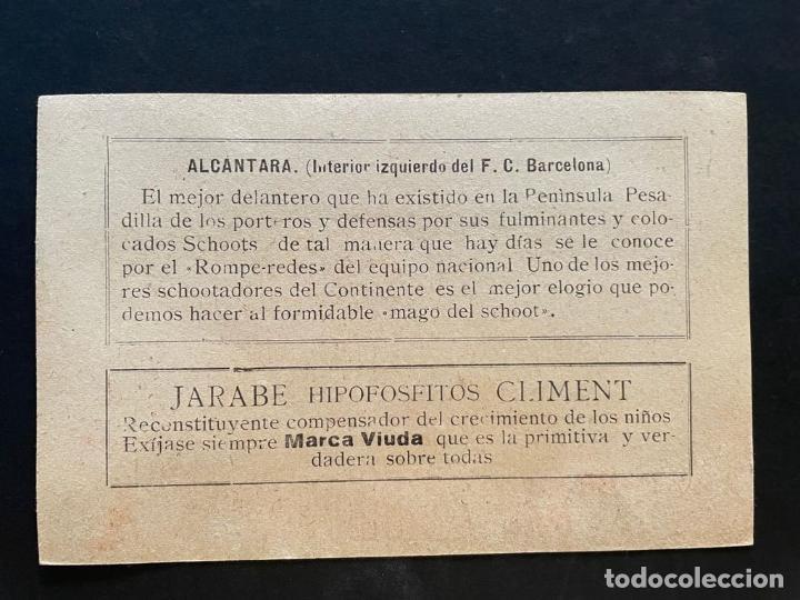 Cromos de Fútbol: CROMO FUTBOL DEL FUTBOL CLUB BARCELONA (ALCANTARA) - JARABE HIPOFOSFITOS CLIMENT - Foto 2 - 277606893