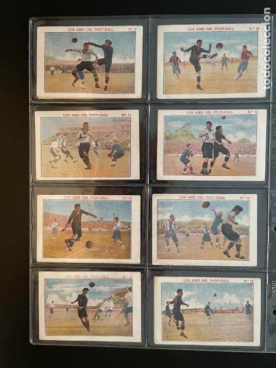 Cromos de Fútbol: COLECCIÓN COMPLETA DE CROMOS DE FUTBOL (LOS ASES DEL FOOT-BALL) - Foto 2 - 277611228