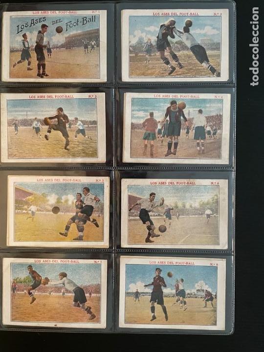 COLECCIÓN COMPLETA DE CROMOS DE FUTBOL (LOS ASES DEL FOOT-BALL) (Coleccionismo Deportivo - Álbumes y Cromos de Deportes - Cromos de Fútbol)