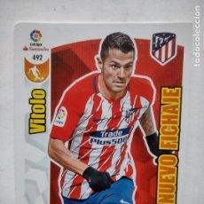 Cromos de Fútbol: 492 ADRENALYN XL 2017 2018 - TOP NUEVO FICHAJE - VITOLO- ATLETICO MADRID - CROMO LIGA 17 18. Lote 277646418