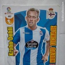 Cromos de Fútbol: 497 ADRENALYN XL 2017 2018 - TOP NUEVO FICHAJE - KROHN DEHLI ESPANYOL - CROMO LIGA 17 18. Lote 277646628