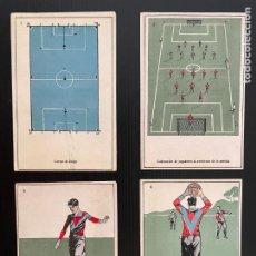 Cromos de Fútbol: COLECCIÓN COMPLETA DE 20 CROMOS DE FUTBOL - TARJETA POSTAL (LABORATORIO BESOY). Lote 277723923