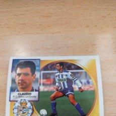 Cromos de Fútbol: CROMO 94/95 LIGA ESTE. CLAUDIO. DEPORTIVO. NUNCA PEGADO.. Lote 277728508