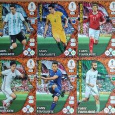 Cromos de Fútbol: FANS'FAVOURITE LOTE 6 FICHAS ALBUM ADRENALYN XL FIFA WORLD CUP RUSSIA RUSIA 2018. Lote 277728888