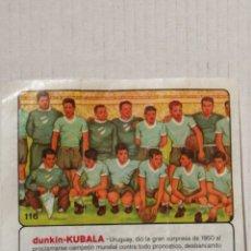 Cromos de Fútbol: CROMO DUNKIN KUBALA SELECCION DE URUGUAY 1950 NUMERO 116 DE LA COLECCION. Lote 278387373