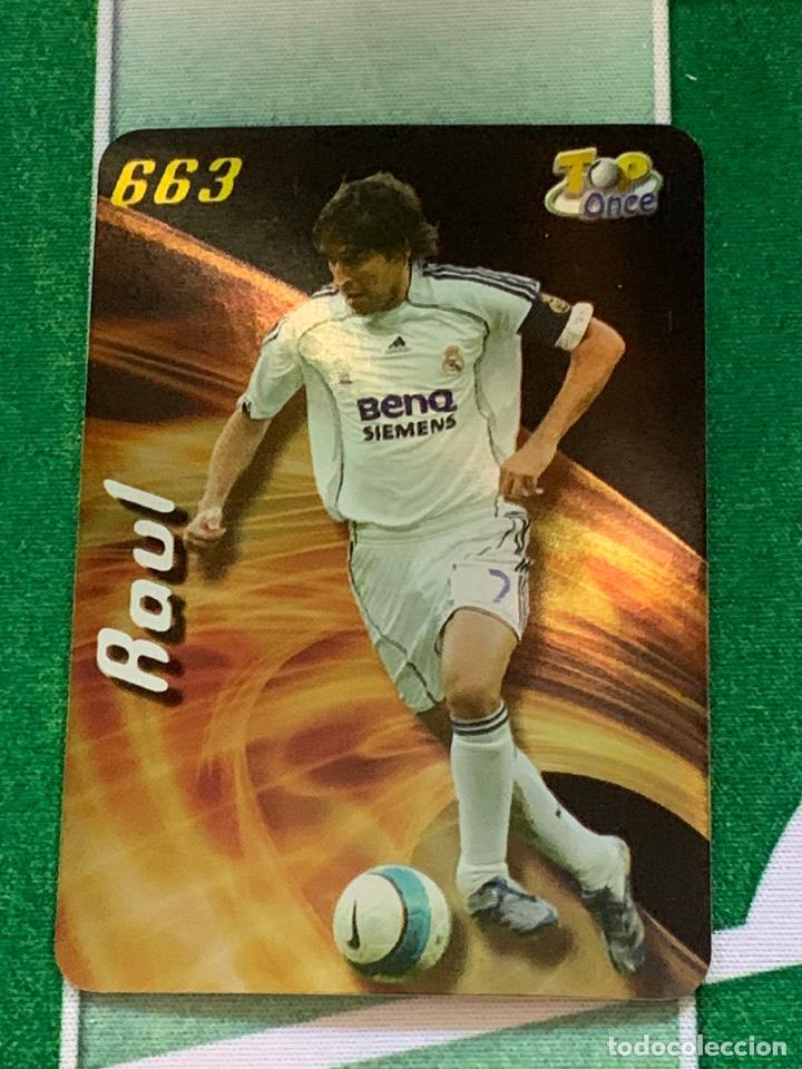 663 TOP BRILLO LISO RAUL REAL MADRID MUNDICROMO FICHA FUTBOL 2007 2008 LA LIGA 07 08 (Coleccionismo Deportivo - Álbumes y Cromos de Deportes - Cromos de Fútbol)
