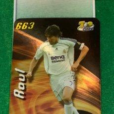 Cromos de Fútbol: 663 TOP BRILLO LISO RAUL REAL MADRID MUNDICROMO FICHA FUTBOL 2007 2008 LA LIGA 07 08. Lote 278454293