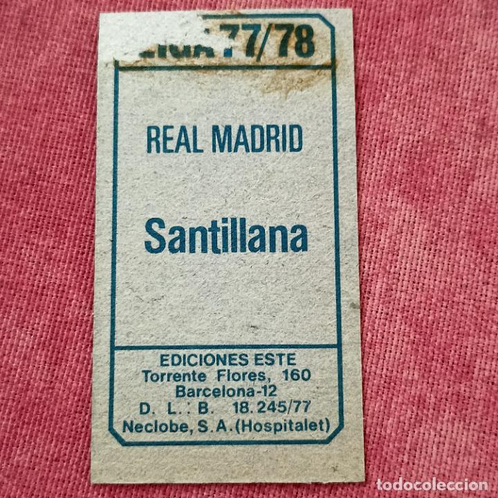 Cromos de Fútbol: SANTILLANA - REAL MADRID - CROMO EDICIONES ESTE 1977-78 - DESPEGADO - 77/78 - Foto 2 - 278454313