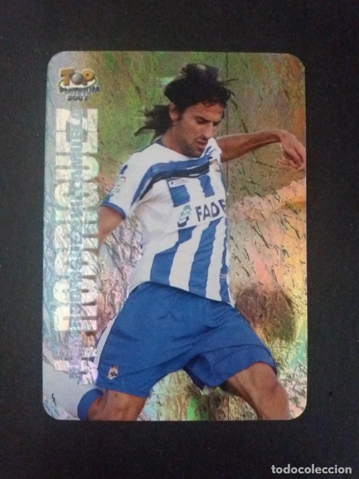 736 JUAN RODRÍGUEZ (TOP PLATINUM JASPEADO) - R.C. DEPORTIVO LA CORUÑA - MUNDICROMO 2007 (Coleccionismo Deportivo - Álbumes y Cromos de Deportes - Cromos de Fútbol)