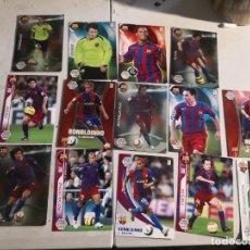 Cromos de Fútbol: LOTE F.C.BARCELONA 14 MEGA CROMOS TEMPORADAS 2006/07 Y 2007/08 (MESSI, RONALDINHO, INIESTA, ETC). Lote 278845013