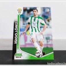 Cromos de Fútbol: MEGACRACKS 2014 2015 14 15 PANINI IÑIGO LOPEZ Nº 95 BIS CÓRDOBA ALBUM LIGA CARD MEGA CRACKS MGK. Lote 278924283