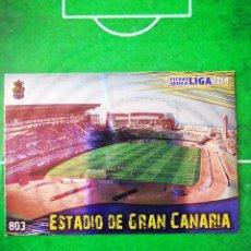 Cromos de Fútbol: CROMO FUTBOL 13 14 MUNDICROMO FICHAS QUIZ LIGA 2013 2014 UD LAS PALMAS 803 ESTADIO DE GRAN CANARIA. Lote 279555108