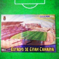 Cromos de Fútbol: CROMO FUTBOL 13 14 MUNDICROMO FICHAS QUIZ LIGA 2013 2014 UD LAS PALMAS 803 ESTADIO DE GRAN CANARIA. Lote 279555113