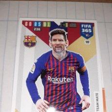 Cromos de Fútbol: ADRENALYN XL, FIFA 365, TEMPORADA 2019/20, JUGADOR LIONEL MESSI (FC BARCELONA), Nº 117. Lote 280111233