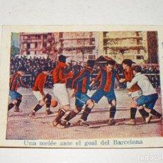 Cromos de Fútbol: CROMO ANTIGUO - FC BARCELONA 2 - ESPAÑA 1 - UNA MELÉE ANTE EL GOAL DEL BARCELONA. Lote 286268833