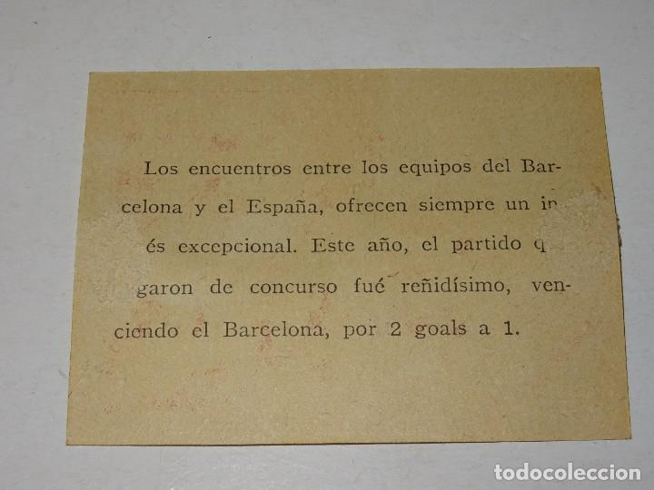 Cromos de Fútbol: CROMO ANTIGUO - FC BARCELONA 2 - ESPAÑA 1 - UNA MELÉE ANTE EL GOAL DEL BARCELONA - Foto 2 - 286268833