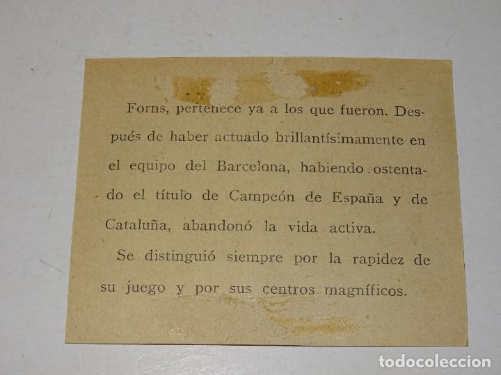 Cromos de Fútbol: CROMO ANTIGUO - FC BARCELONA - FONS EN UNO DE SUS RÁPIDOS AVANCES 1913, SEÑALES DE USO - Foto 2 - 286269308
