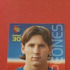 Cromos de Fútbol: MESSI CROMO ROOKIE 35 MEGACRACKS BARÇA CAMPIÓ LIGA 2004/2005 04/05. Lote 287049378
