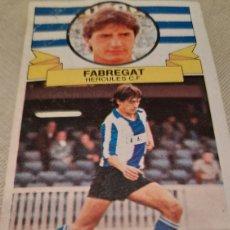 Cromos de Fútbol: CROMO DE FABREGAT DEL HÉRCULES CON ERROR DE IMPRESIÓN (AA EN CAMISETA). LIGA 1985 1986. ED. ESTE. Lote 287725903