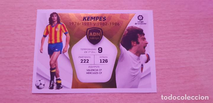 LIGA ESTE 2021-2022 ADN Nº 17 KEMPES VALENCIA (Coleccionismo Deportivo - Álbumes y Cromos de Deportes - Cromos de Fútbol)