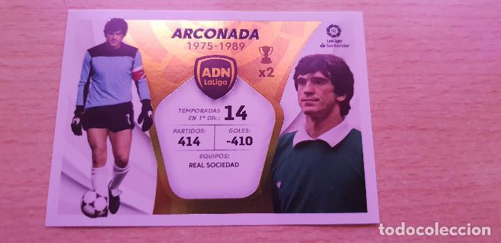 LIGA ESTE 2021-2022 ADN Nº 1 ARCONADA REAL SOCIEDAD (Coleccionismo Deportivo - Álbumes y Cromos de Deportes - Cromos de Fútbol)