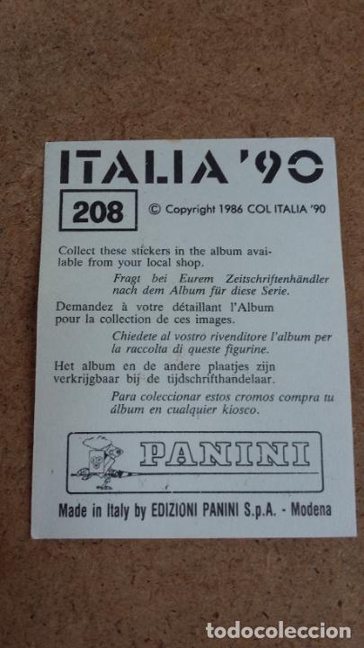 Cromos de Fútbol: WC MUNDIAL ITALIA 90 - PANINI - 208 ROMARIO ( BRASIL ) NUNCA PEGADO ) CP4 - Foto 2 - 287858428