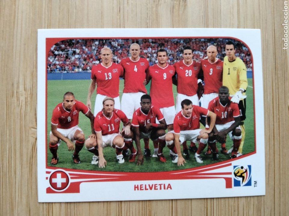 SUIZA HELVETIA PLANTILLA MUNDIAL SUDAFRICA 2010 PANINI NUEVO SIN PEGAR NUMERO 581 (Coleccionismo Deportivo - Álbumes y Cromos de Deportes - Cromos de Fútbol)