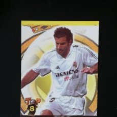 Cromos de Fútbol: #076 76 FIGO REAL MADRID MATE TOP 2005 MUNDICROMO 05. Lote 287995963