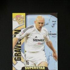 Cromos de Fútbol: #110 GRAVESEN REAL MADRID SUPERSTAR MATE TOP 2005 MUNDICROMO 05. Lote 288001878