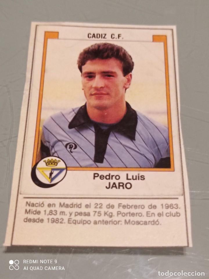 JARO PORTERO DEL CADIZ FUTBOL 88. PANINI. RECORTADO SIN CROMO DETRÁS (Coleccionismo Deportivo - Álbumes y Cromos de Deportes - Cromos de Fútbol)