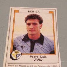Cromos de Fútbol: JARO PORTERO DEL CADIZ FUTBOL 88. PANINI. RECORTADO SIN CROMO DETRÁS. Lote 288004418