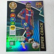 Cromos de Fútbol: SUPER CRACK ANSU FATI - BARÇA - PANINI - ADRENALYN XL 2020-21 - Nº 445. Lote 288004588