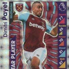 Cromos de Fútbol: 357-DIMITRI PAYET-WEST HAM UNITED-STAR PLAYER-TOPPS ENGLISH PREMIER LEAGUE 2016-2017 - MATCH ATTAX. Lote 288121618