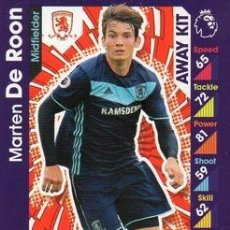 Cromos de Fútbol: 372-MARTEN DE ROON-MIDDLESBROUGH-AWAY KIT-TOPPS ENGLISH PREMIER LEAGUE 2016-2017 - MATCH ATTAX. Lote 288121678