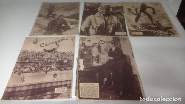 Cromos de Fútbol: LOTE DE REVISTAS DEPORTIVAS - CAMPEON (FUTBOL - CICLISMO - BOXEO - TENNIS....) - Foto 3 - 288335878