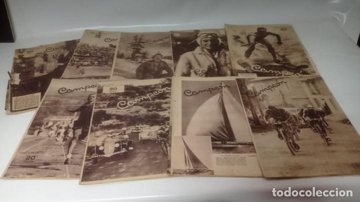 LOTE DE REVISTAS DEPORTIVAS - CAMPEON (FUTBOL - CICLISMO - BOXEO - TENNIS....) (Coleccionismo Deportivo - Álbumes y Cromos de Deportes - Cromos de Fútbol)