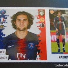 Cromos de Fútbol: 130 ADRIEN RABIOT PARIS SAINT-GERMAIN VERSION BLUE BACK STICKER PANINI FIFA 365 18 19 2018 2019. Lote 288481203