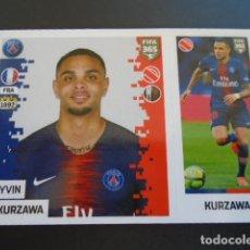 Cromos de Fútbol: 127 LAYVIN KURZAWA PARIS SAINT-GERMAIN VERSION BLUE BACK STICKER PANINI FIFA 365 18 19 2018 2019. Lote 288481513