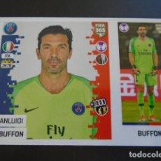 Cromos de Fútbol: 122 GIANLUIGI BUFFON PARIS SAINT-GERMAIN VERSION BLUE BACK STICKER PANINI FIFA 365 18 19 2018 2019. Lote 288482063