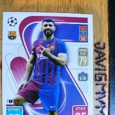 Cromos de Fútbol: MATCH ATTAX CHAMPIONS 2021 2022 21 22 TOPPS BARCELONA Nº 224 AGUERO. Lote 288597278